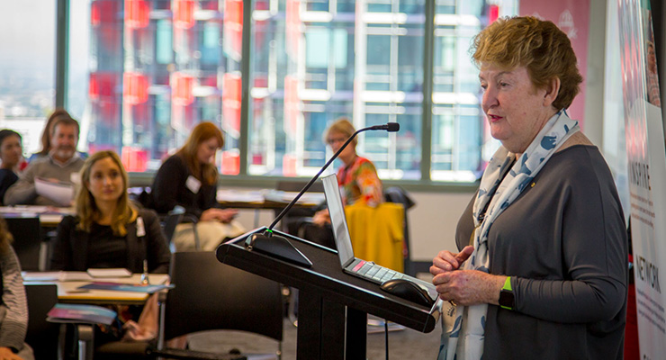 NSW Business Commissioner Robyn Hobbs speaking