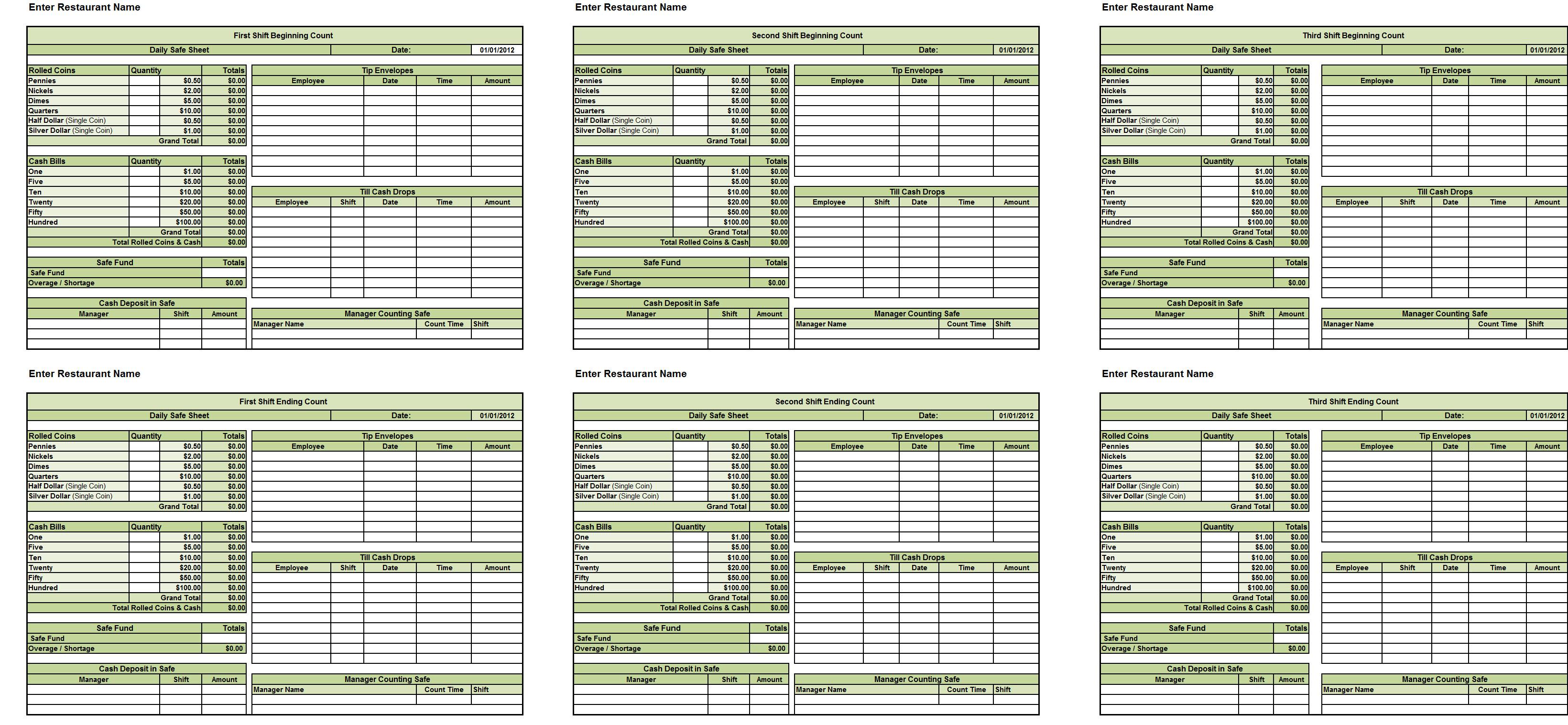 New Cumberland Pennsylvania Safe Count Spreadsheet