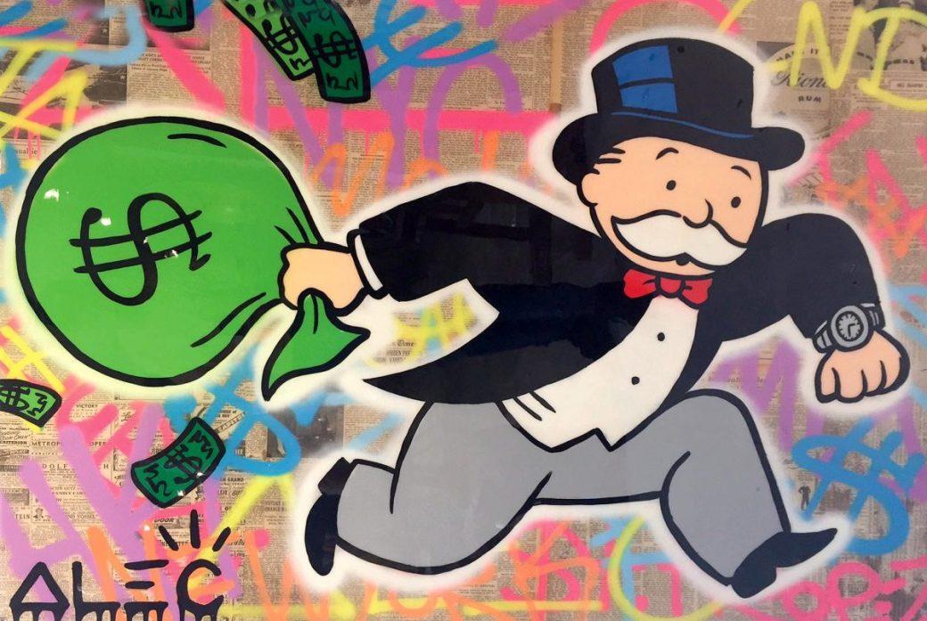 Monopoly-Money-Bag-Running-London-36x48