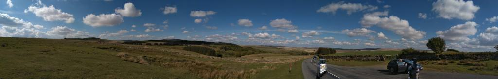 Panoramic view of beautiful Dartmoor the setting of the Ten Tors Challenge