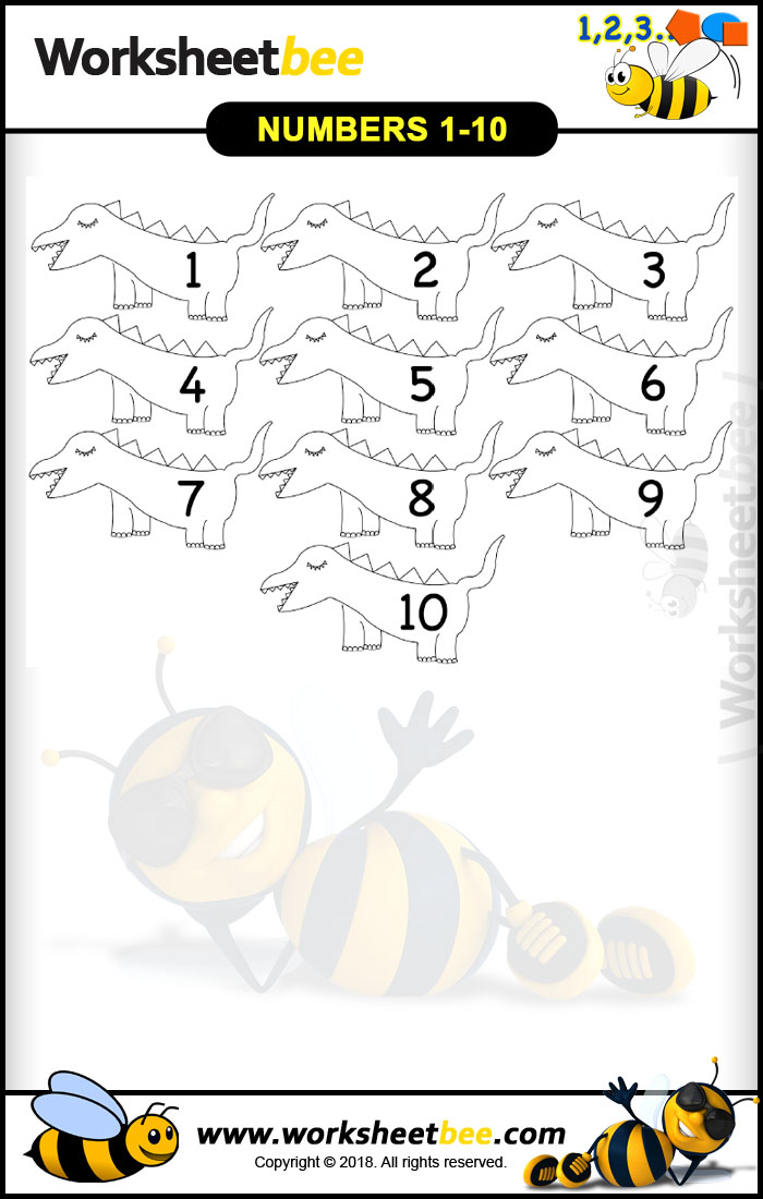 photograph relating to Printable Numbers 1-10 referred to as Printable Worksheet for Small children Versus Figures 1 10 - Worksheet Bee
