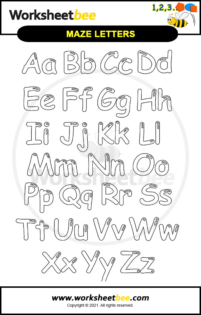 Printable Alphabet Coloring Pages For Kids - Worksheet Bee