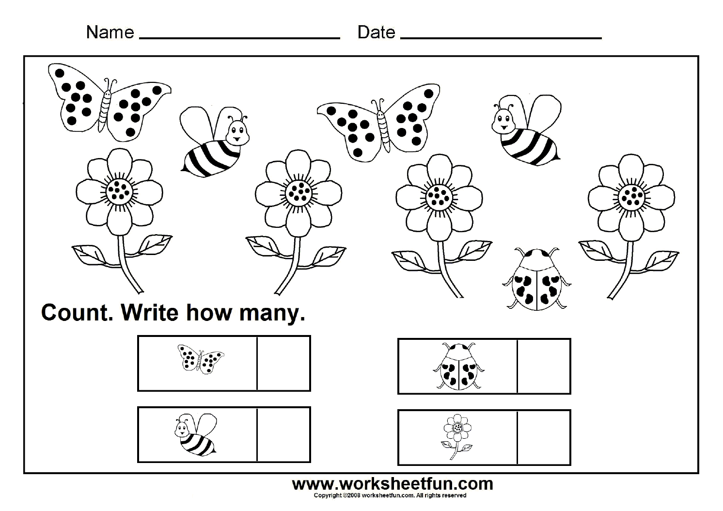 How Many Count And Write Worksheets Sketch Coloring Page