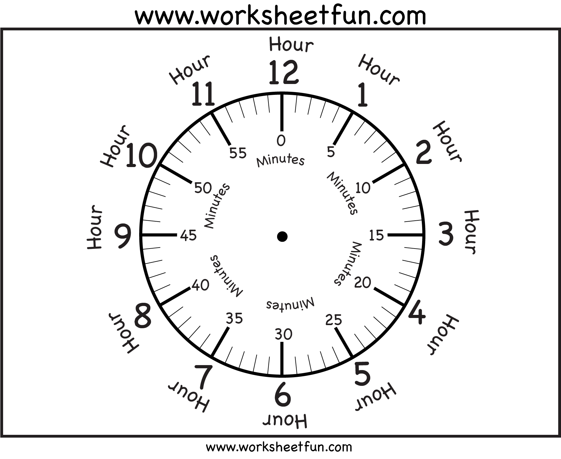 Time Printable Clock Face 4 Worksheets Free Printable Worksheets Worksheetfun