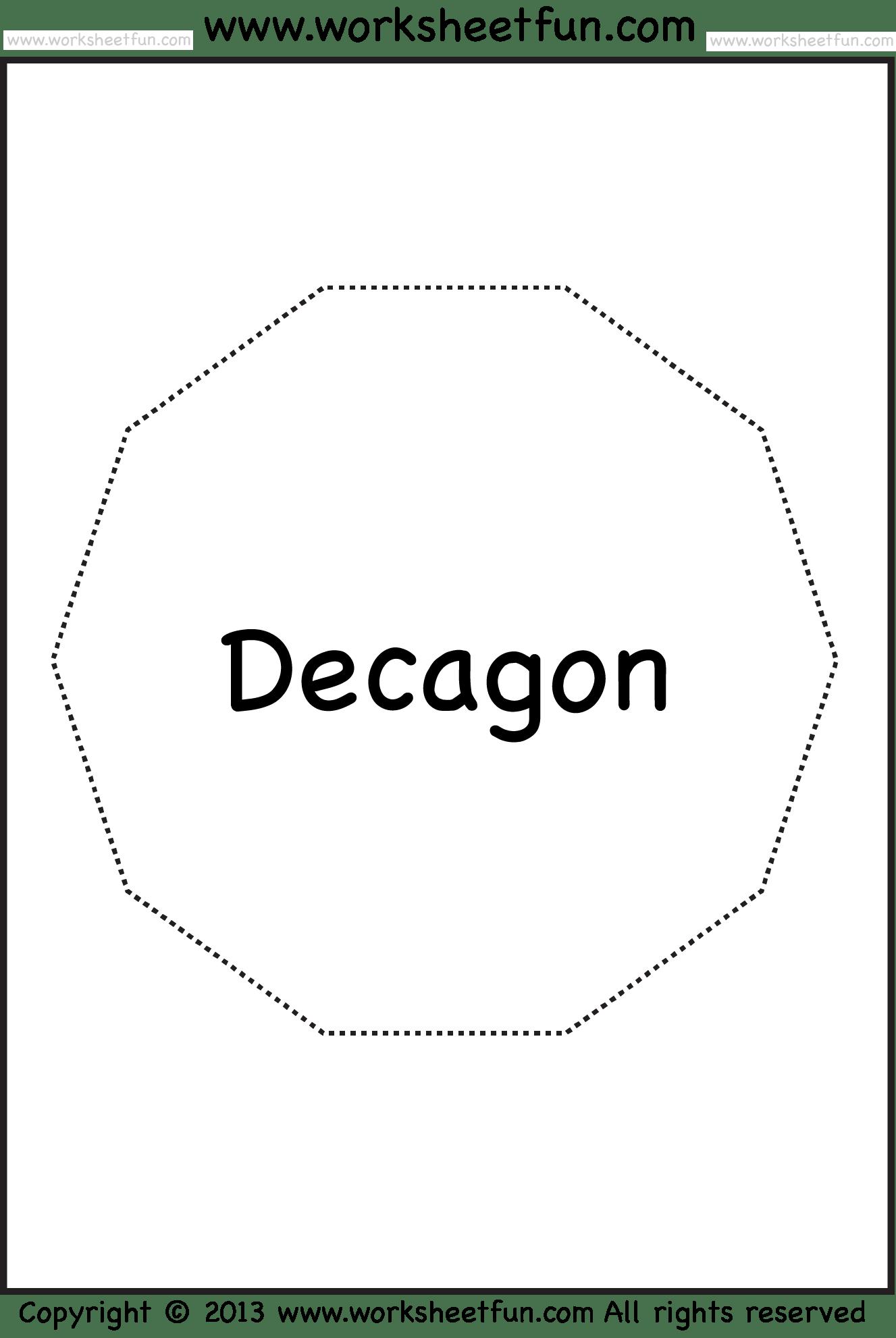 Shapes Pentagon Hexagon Heptagon Octagon Nonagon