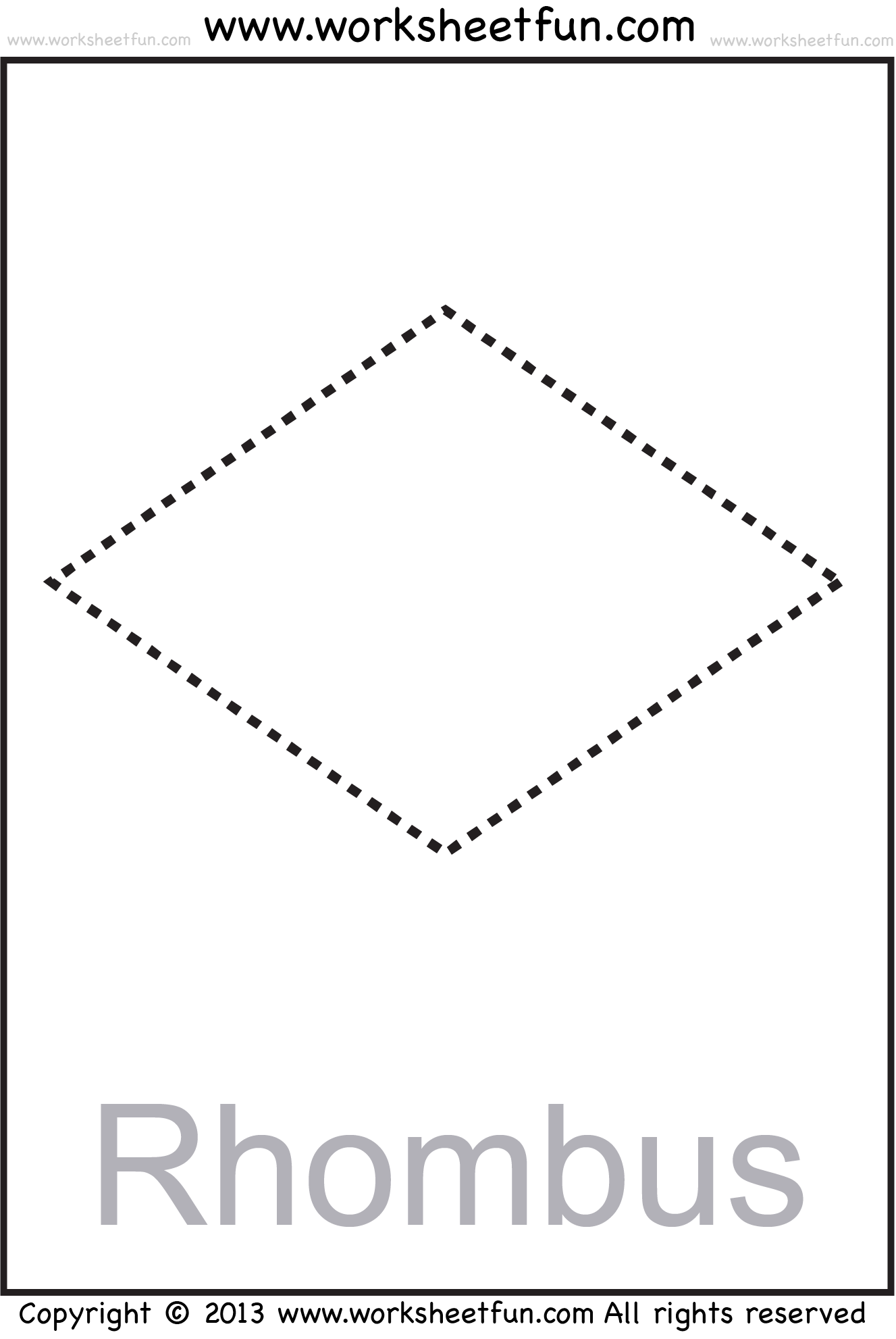Shapes Circle Triangle Square Rectangle Rhombus