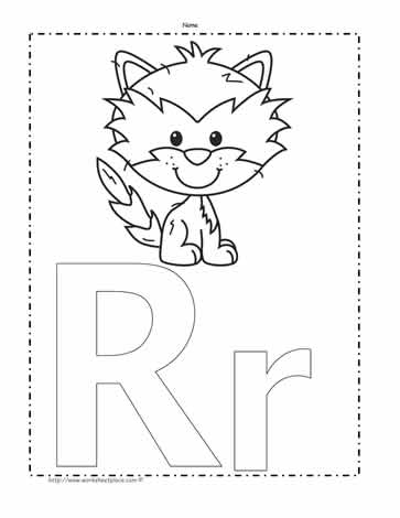 letter r coloring page # 53