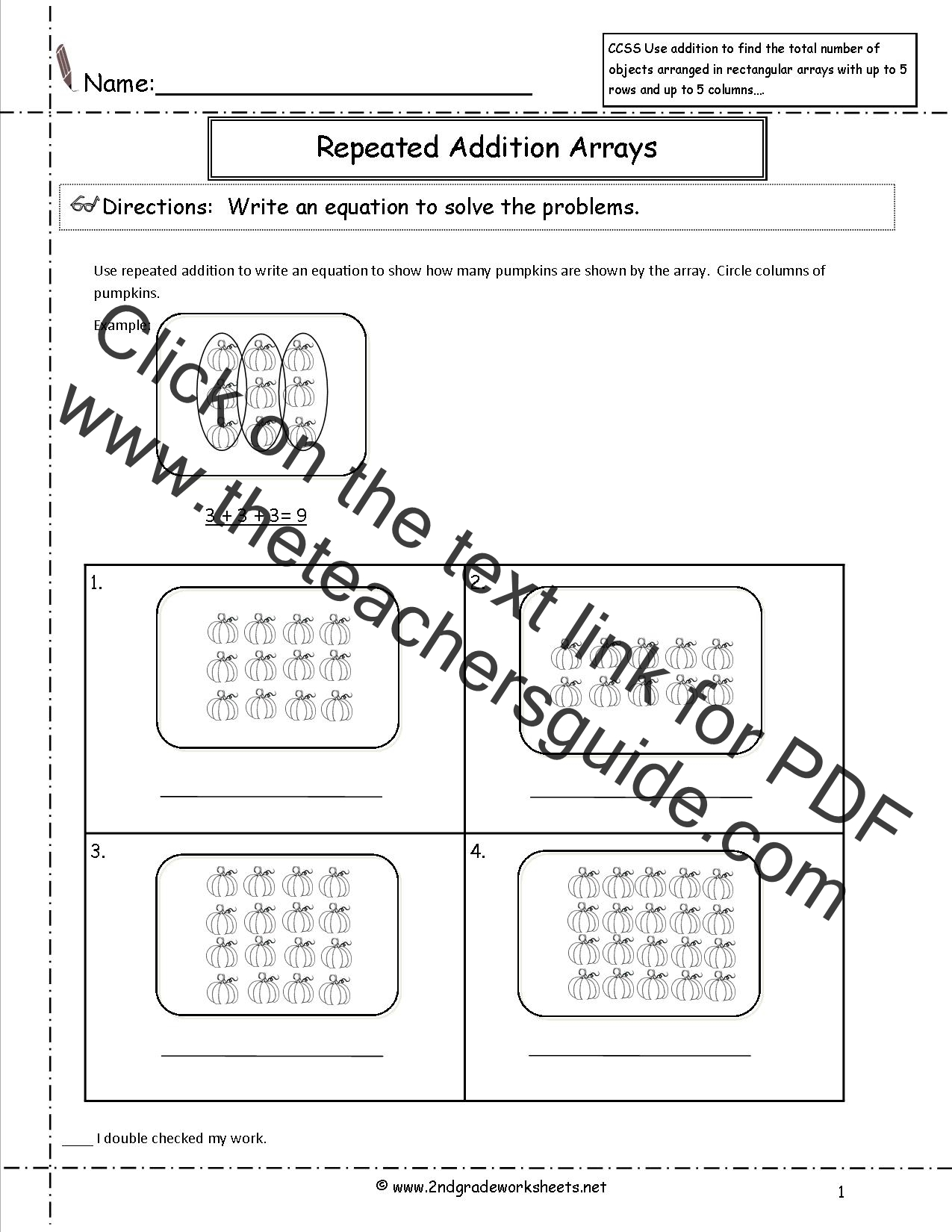 17 Best Repeated Addition Worksheets 2nd Grade Images On