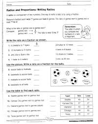 Ratios And Proportional Relationships 6th Grade Worksheets