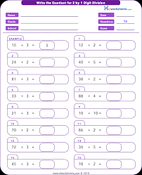 6 Best Long Division Worksheets With Answer Key No Remder