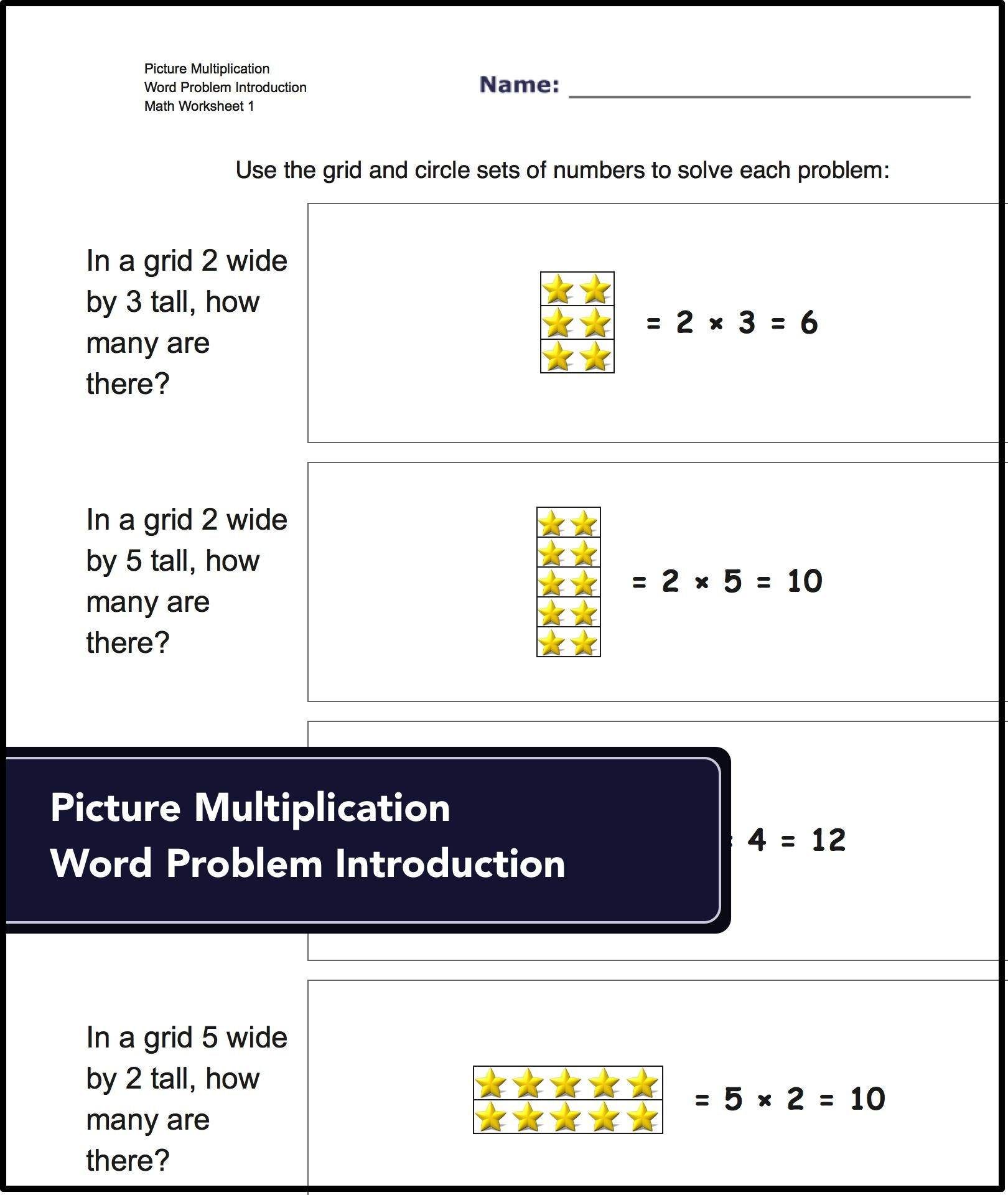 Picture Math Multiplication Worksheets With Answer Keys On