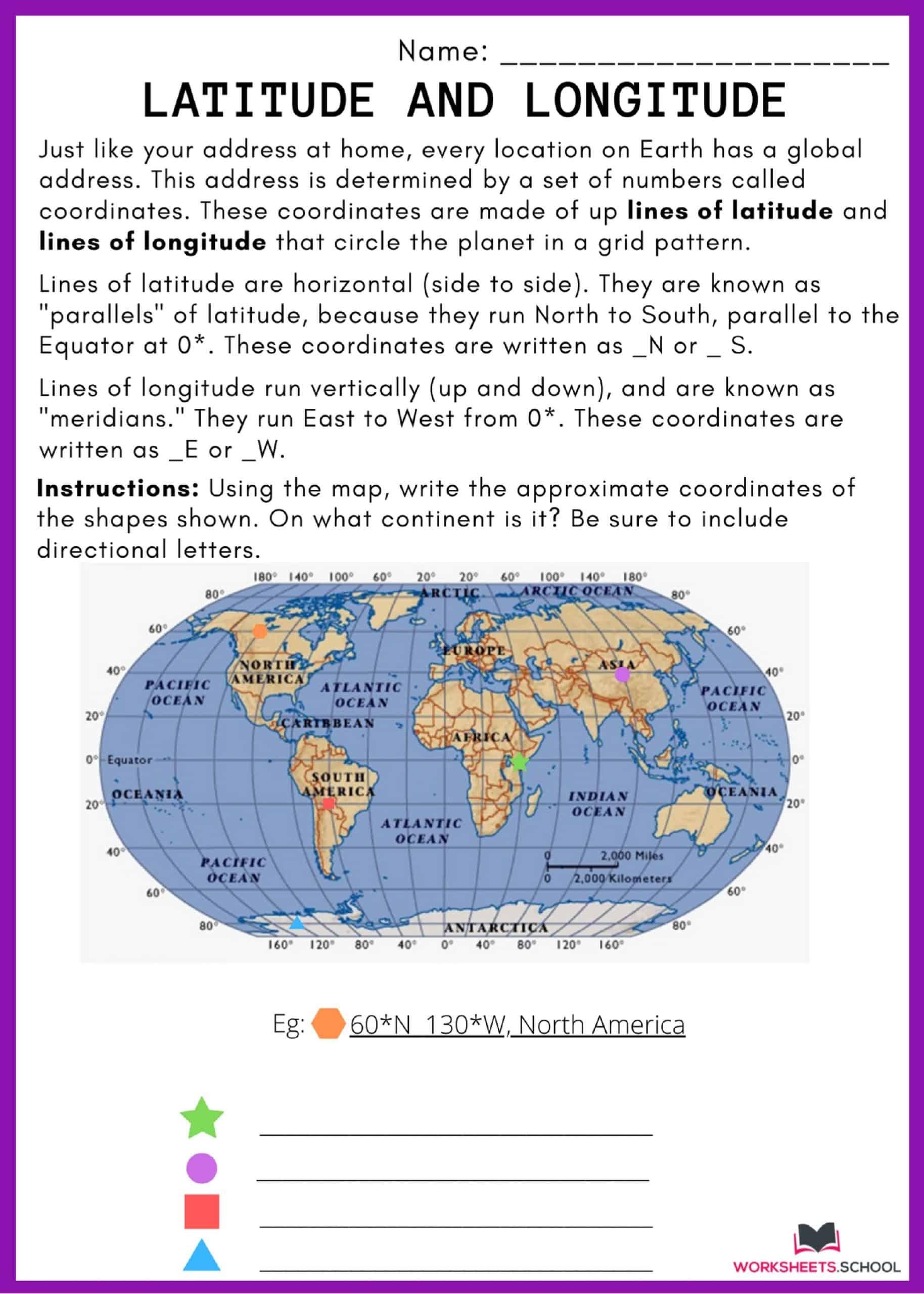 10 Latitude And Longitude Worksheets