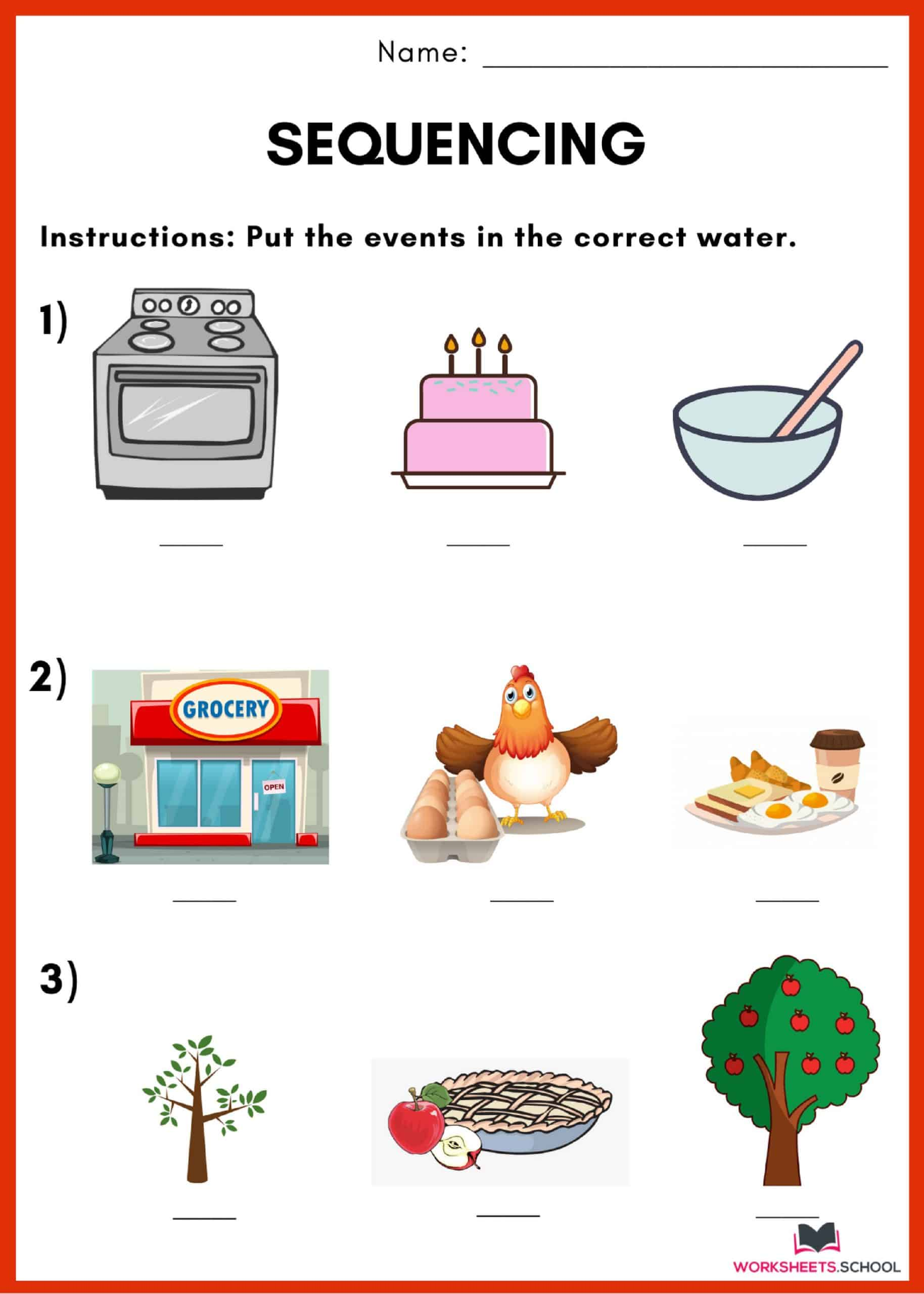 10 Printable Sequencing Worksheets Free Worksheets Hool