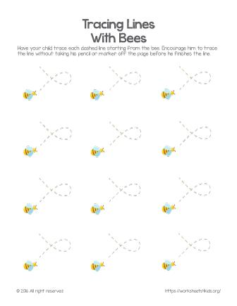 tracing worksheets preschool