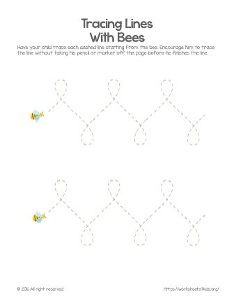 tracing preschool worksheets
