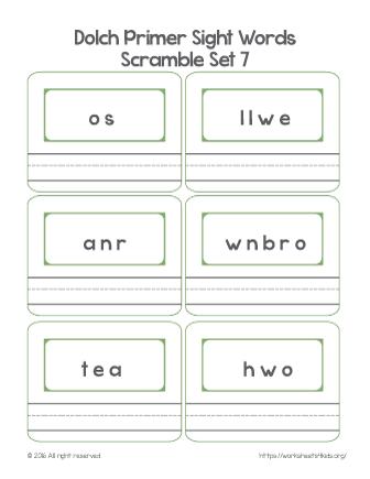 kindergarten sight words pdf