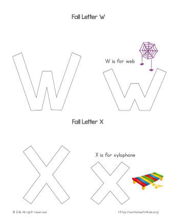 coloring letter w