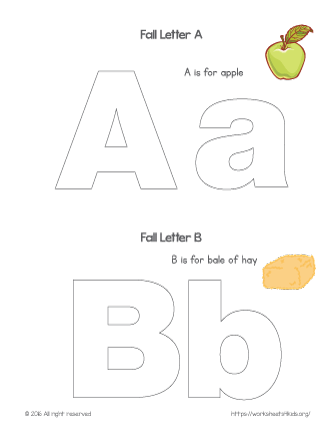coloring letter a