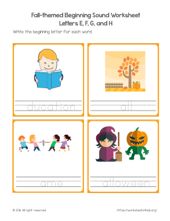 beginning letter sound worksheets