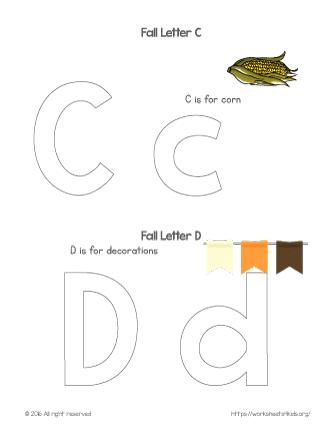 Coloring Letter C