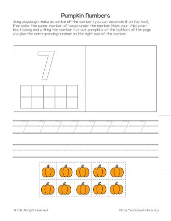 number 7 worksheet