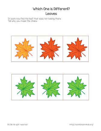 fall math worksheet
