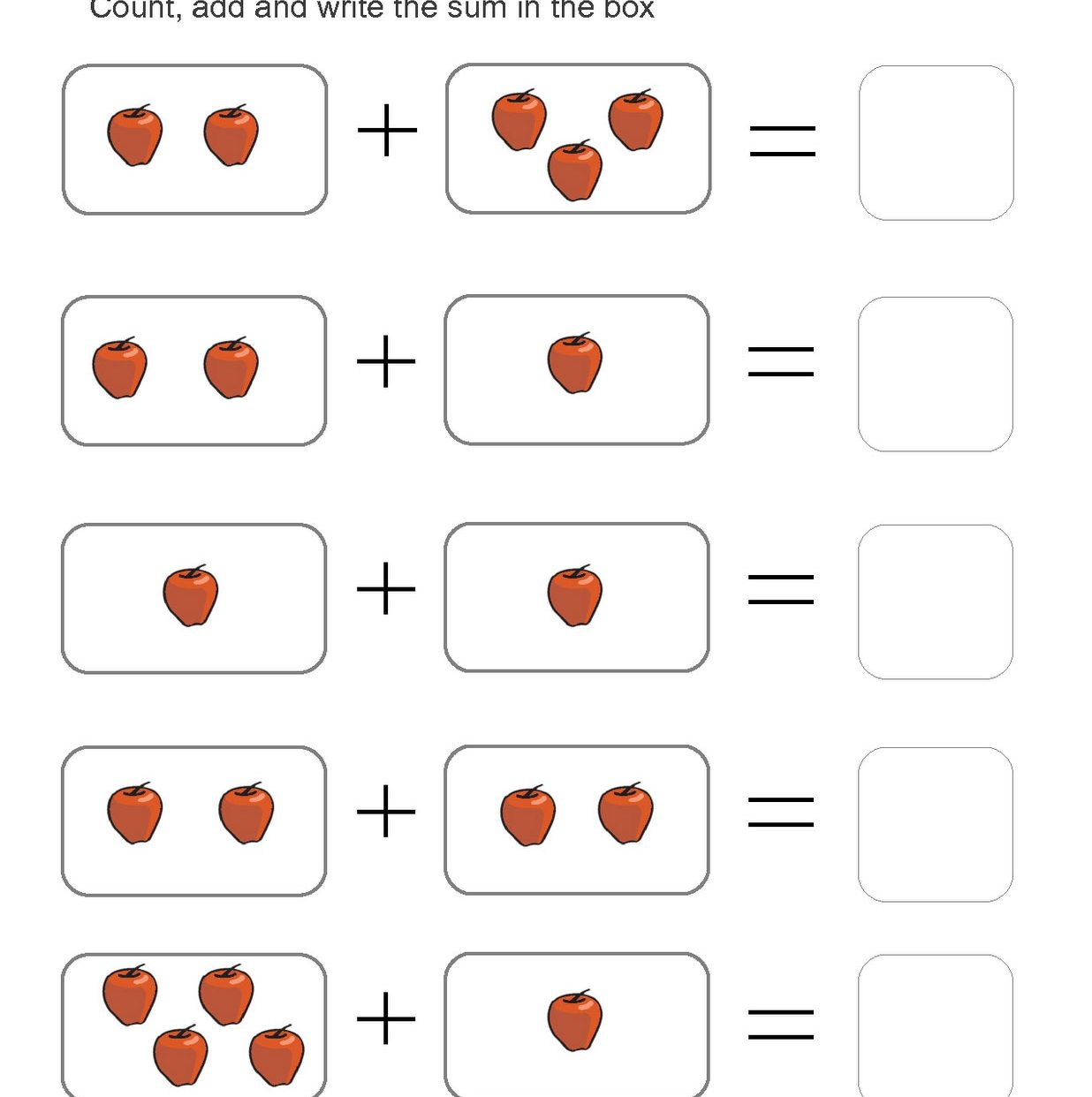 Addition Practice Worksheets First Grade