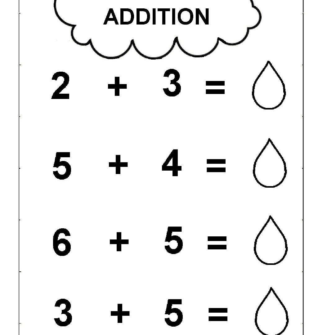 Free Printable Simple Addition Worksheets For Kids