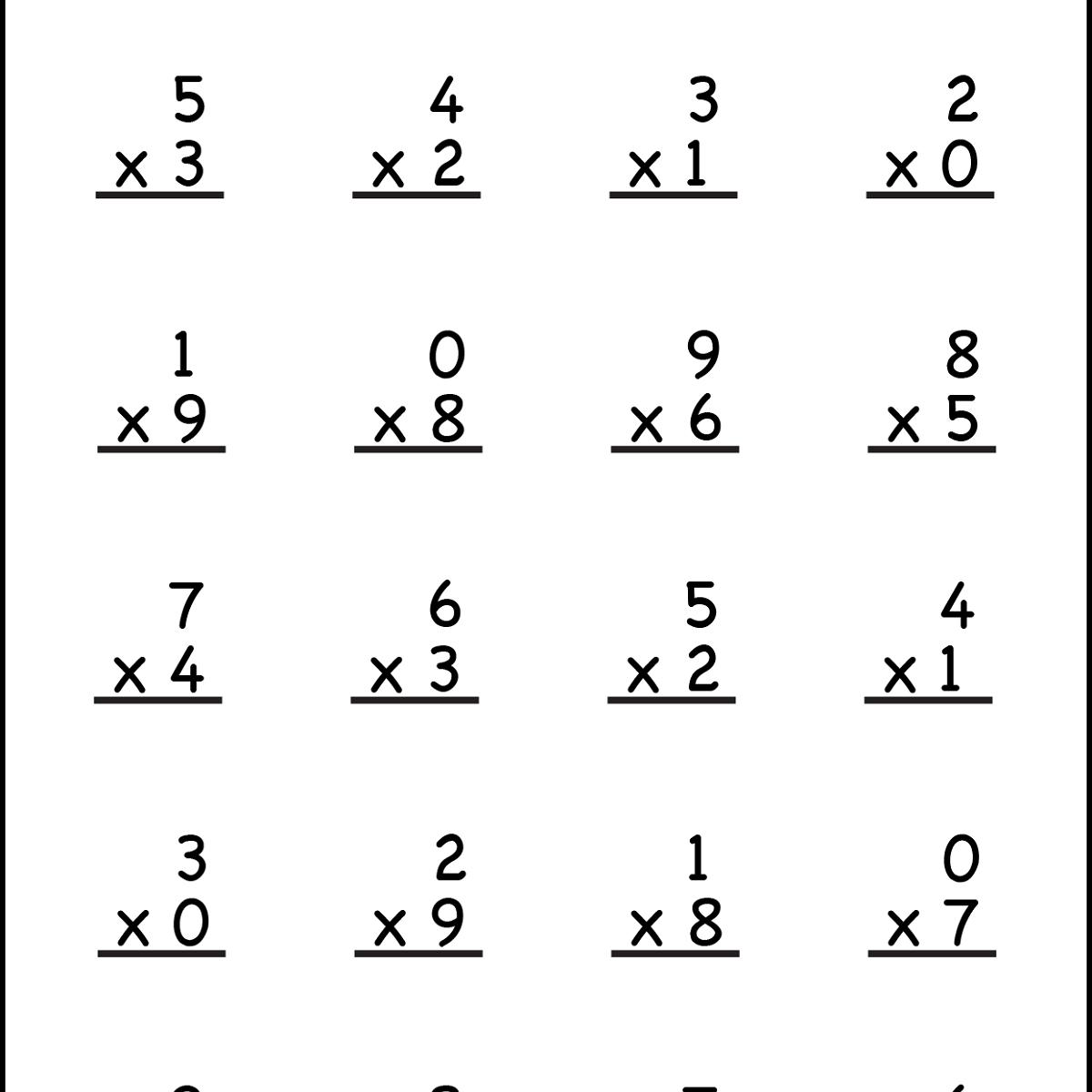 Multiplication Worksheet For 3rd Grade 1