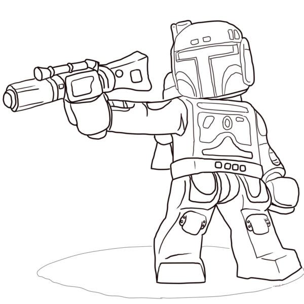 Inspirational Lego Boba Fett Coloring Pages