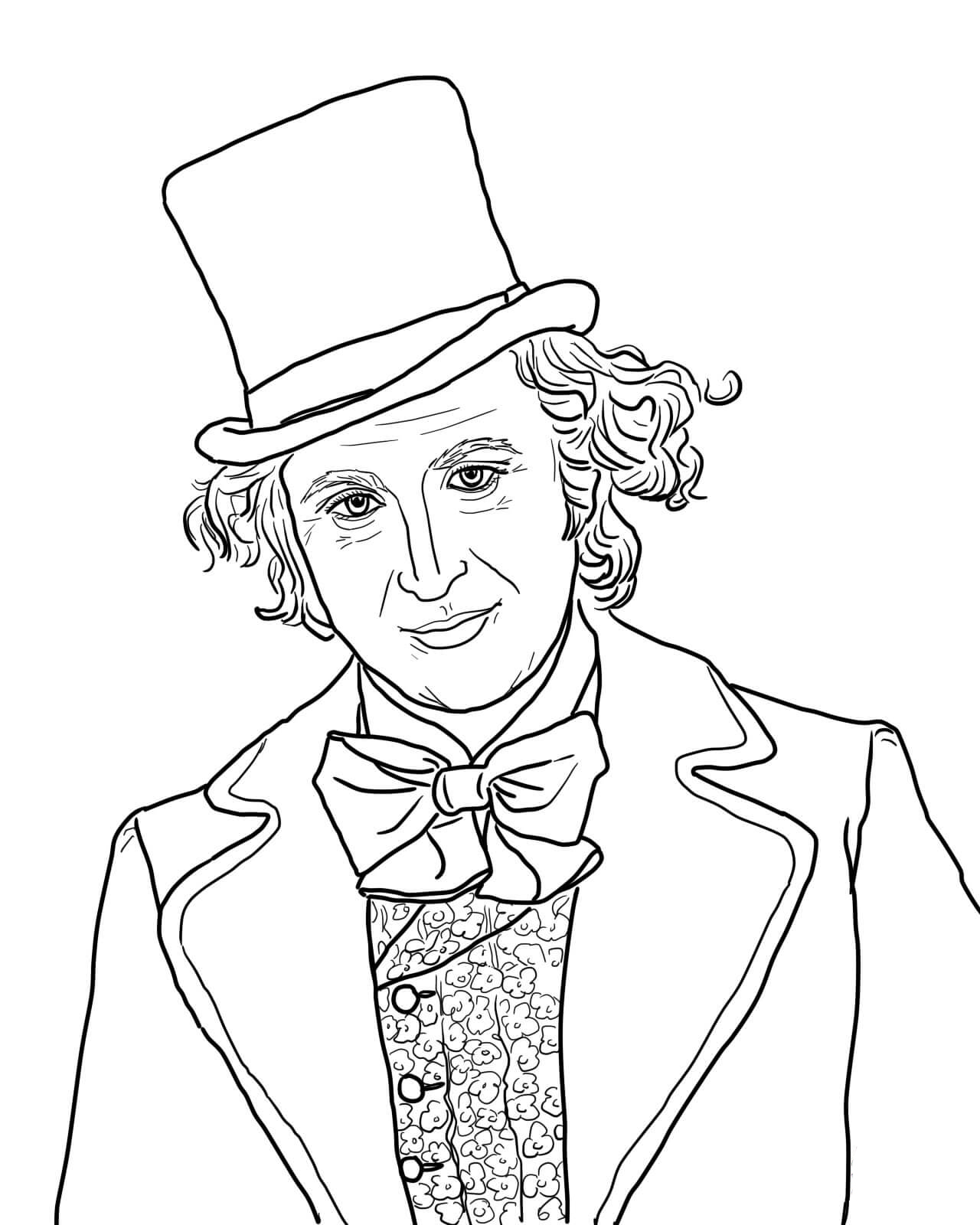 Willie Wonka Coloring Pages