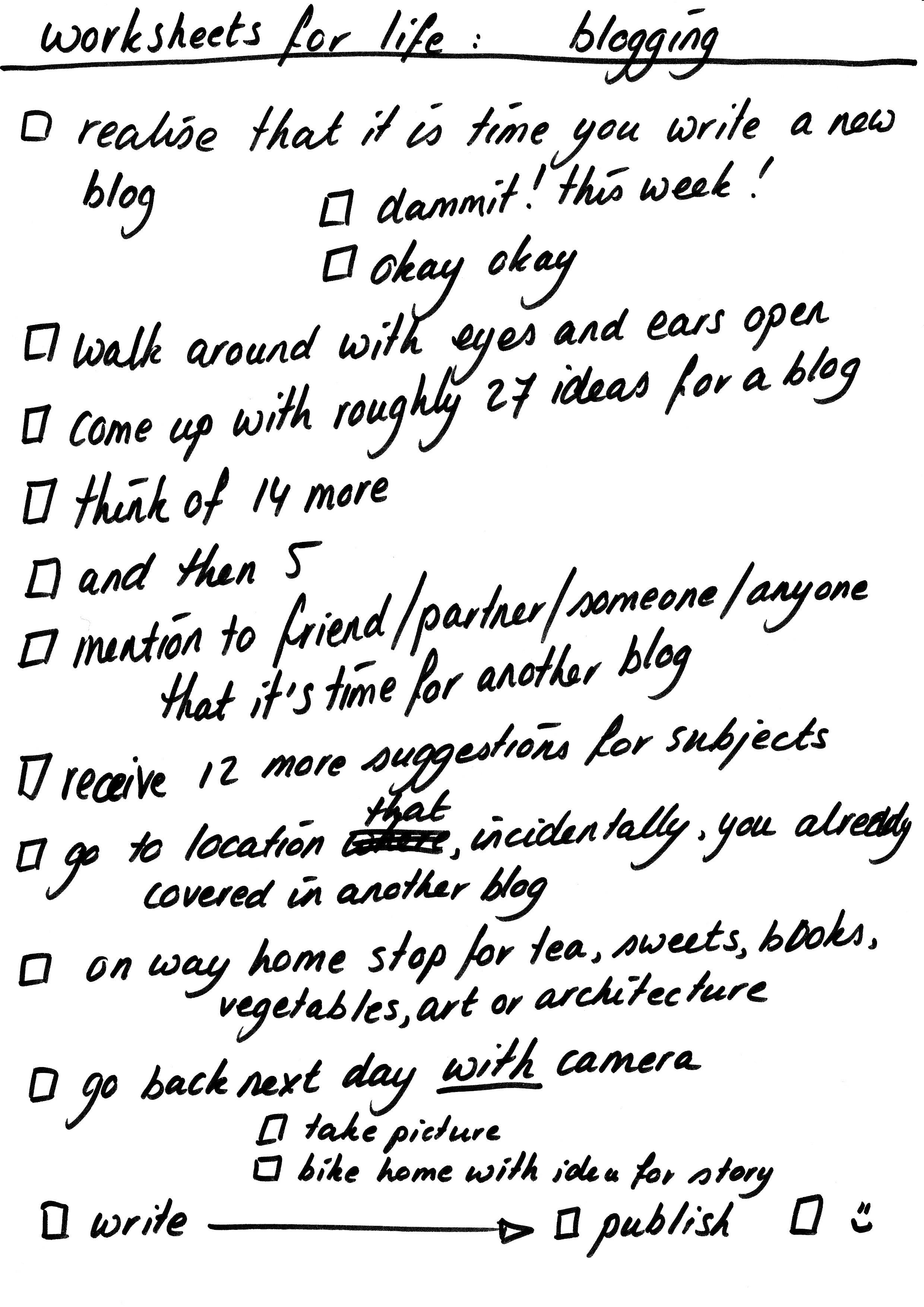 Worksheet For Life 17 Blogging