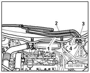Audi Workshop Manuals > A2 > Vehicle electrics > Electrical system > Windscreen wipewash system
