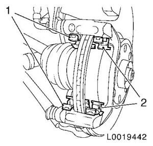 Vauxhall Workshop Manuals > Corsa D > H Brakes > Front Wheel Brake > Brake Caliper > Repair