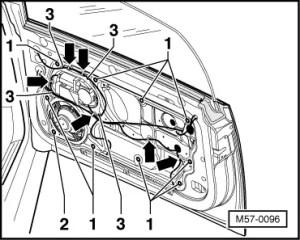 Volkswagen Workshop Manuals > New Beetle > Body > General body repairs, exterior > Front door