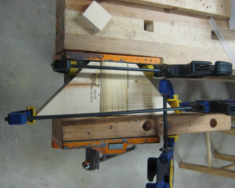 Trying to clamp three angled pieces of wood together