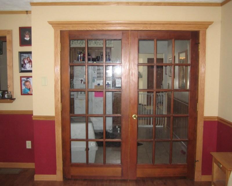 Cornice over new door