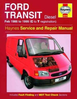 Ford Transit Diesel 1986 1999 Haynes Service Repair Manual