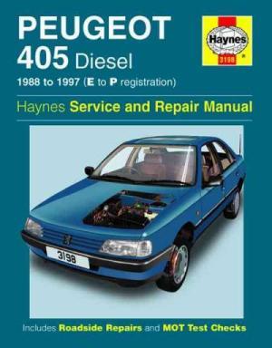 Peugeot 405 Diesel 1988 1997 Haynes Service Repair Manual