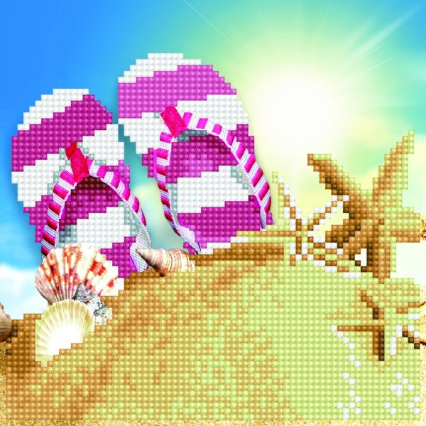 diamond art beach