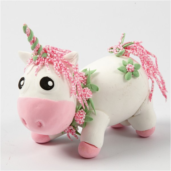 DIY roze unicorn klei