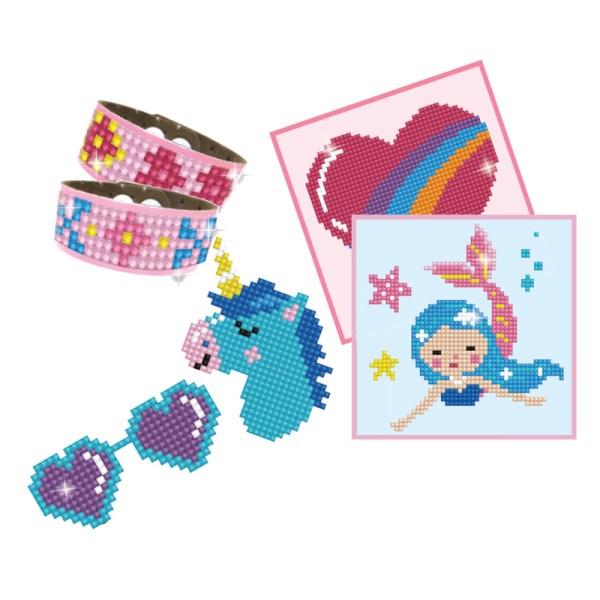 Diamond dotz dotzies set girl 2 sticker armband painting