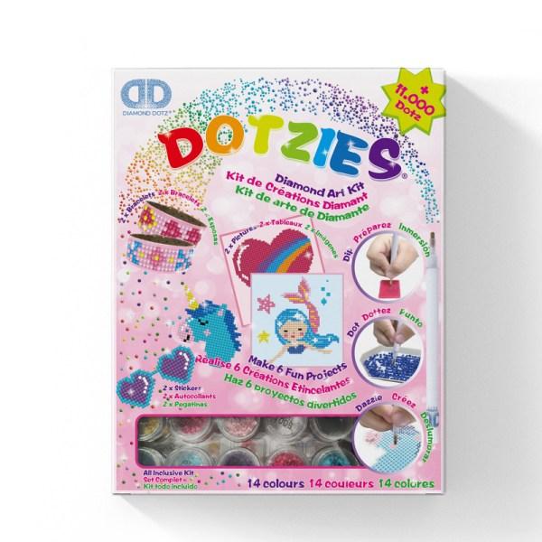 Diamond dotz dotzies set girl sticker armband painting