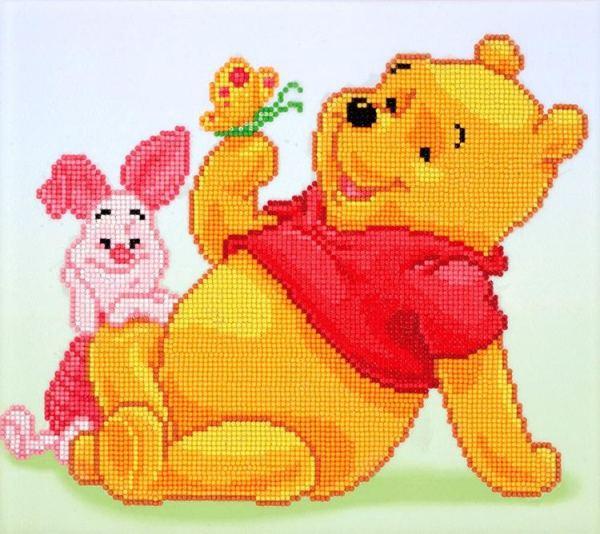 diamond dotz painting winnie the pooh en knorretje