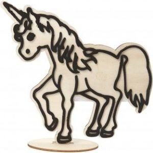 unicorn uit hout