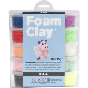 set Foam Clay glitter
