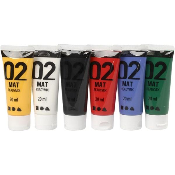 a color acrylverf 02 mat standaard kleuren