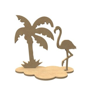 3d houten flamingo set