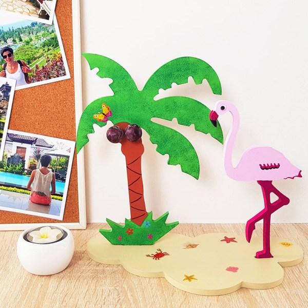 3d houten flamingo set
