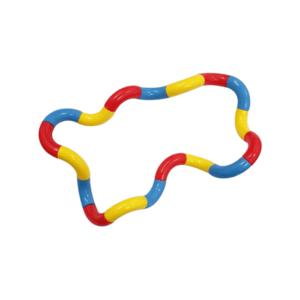 tangle twister blauw rood geel